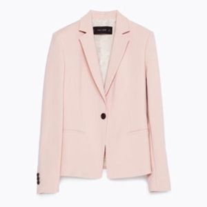 Zara blush pink blazer size medium
